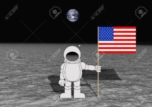 7366080-Ilustraci-n-de-un-astronauta-sosteniendo-una-bandera-de-Estados-Unidos-en-la-Luna--Foto-de-archivo