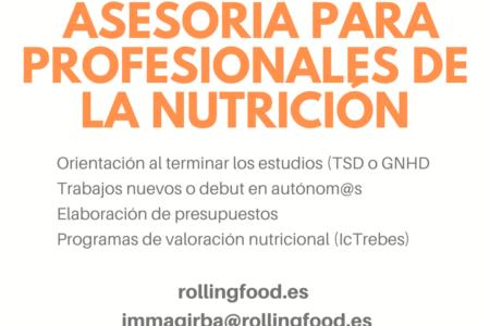Asesoramos a profesionales de la Nutrición y Dietética